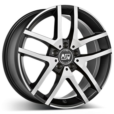 7,5X18 MSW MSW 28 Matt Black Full Poli 5-112 44 66