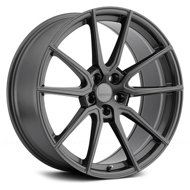 9X19 Lumarai Riviera High Gloss Gunmetal 5-114 30
